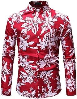 Men Folk-Custom Shirts Long Sleeve Painting Casual Hawaiian Blouse
