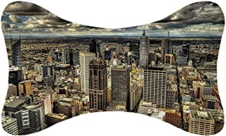 ALUONI Urban Durable Car Headrest Pillow,Melbourne Cityscape Modern Australia Architecture Buildings Metropolis Dramatic Sky for Car,10.2