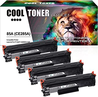 Cool Toner Compatible Toner Cartridge Replacement for HP 85A CE285A P1102w for HP LaserJet P1102w M1212nf HP LaserJet Pro P1100 P1102 P1102w M1212nf M1217nfw M1132 Ink Toner Printer (4 Packs-Black)