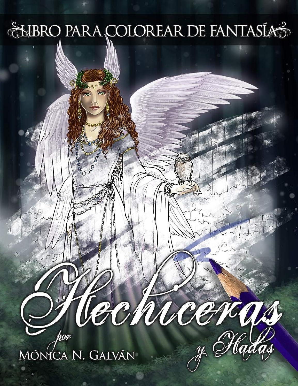 放牧する歩行者維持Hechiceras y Hadas: Libro para Colorear de Fantasía