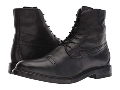 Frye Murray Lace-Up (Black Washed Dip-Dye Leather) Men