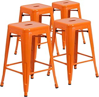 Best red metal counter stool Reviews
