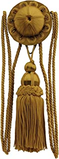 House of Antique Hardware R-010SV-161 Flora Rosette and Tassel Picture Hanger Kit with Rail Hook in Antique Gold