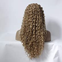 Wig Europe and The United States New Ladies Front Lace Wig in The Long Curly Hair Brown Fluffy Small Volume of Chemical Fiber Hair Sets