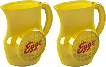 Kellogg's Eggo Syrup Dispenser (2 pack) Microwave - Safe for Your Favorite Maple Syrup to Pour Over the Eggo French Toast, Retro-Style BPA-Free Sturdy Plastic by Jokari