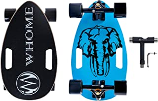 17 Mini Longboard Cruiser Skateboard Complete 7 Layer Alpine Hard Rock Maple Deck T-Tool Included WHOME Eggboard Pro Portable Skateboard for Adult Youth Kid and Beginner
