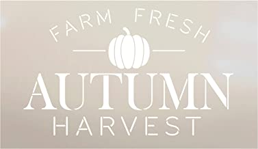 Farm Fresh Autumn Harvest Pumpkin Stencil by StudioR12 | Wood Signs | Word Art Reusable | Family Dining Room | Painting Chalk Mixed Media Multi-Media | DIY Home - Choose Size (11