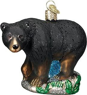 Old World Christmas Ornaments: Wildlife Animals Glass Blown Ornaments for Christmas Tree, Black Bear