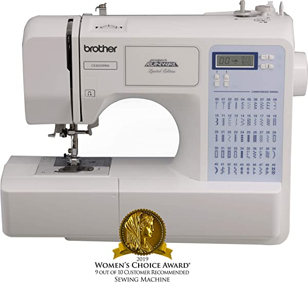 Brother Project Runway CS5055PRW Electric Sewing Machine 50 Built In Stitches Automatic Threading