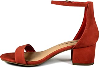 4b3596f0b4a5 City Classified Comfort Womens A3 Block Heel Dress Sandal Open Toe Ankle  Strap Heeled Sandals
