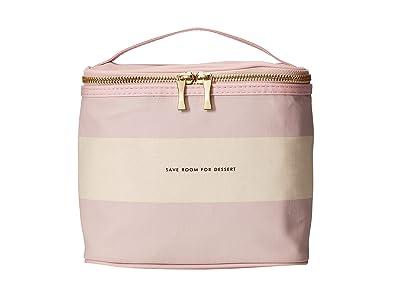 Kate Spade New York Rugby Stripe Lunch Tote (Pink Mult) Handbags