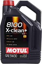 Motul 106377 8100 X-Clean+ 5W-30 Motor Oil 5-Liter Bottles