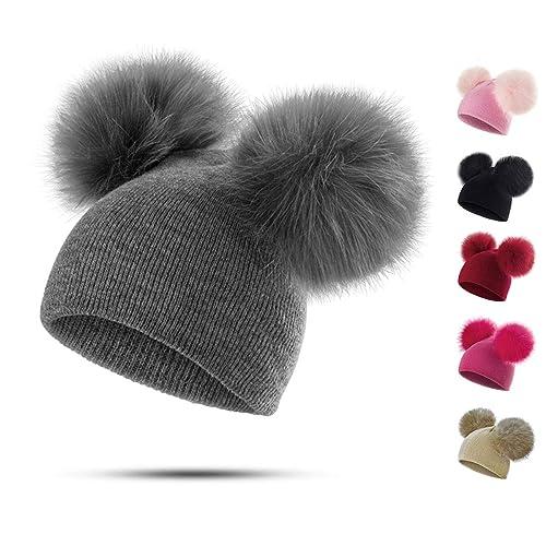 Peng Sheng Children Baby Hat Baby Kids Toddler Warm Winter Wool Hat Beanie  Fur Pom Pom c7466ddd4fe