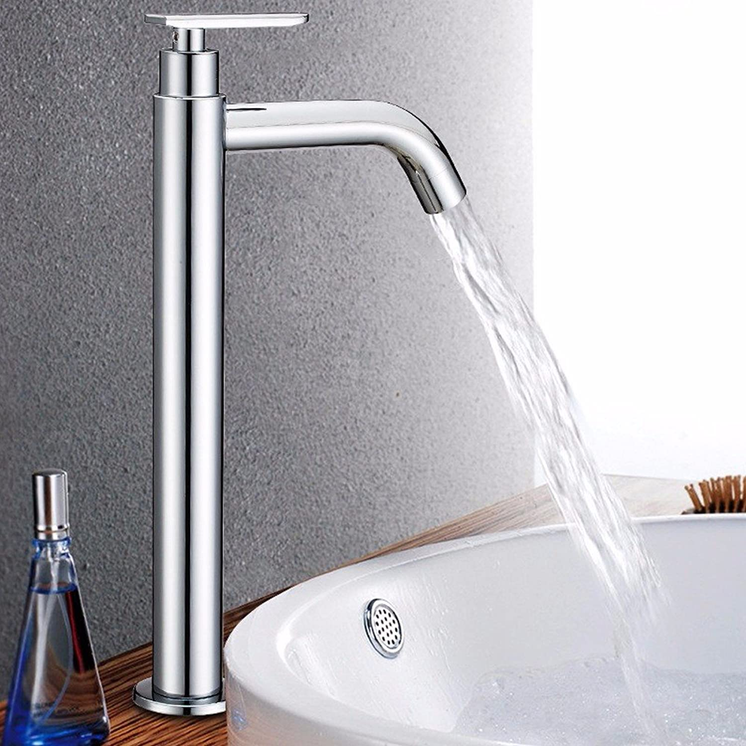 Commercial Single Lever Pull Down Kitchen Sink Faucet Brass Constructed Polished Single Cold Faucet Stainless Steel Single Cold Noodle Faucet Single Hole Kitchen Bathroom Sink