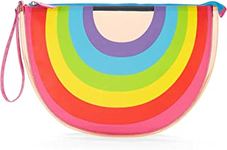 Rainbow Fun-Women and Girls Clear Summer Beach Tote, Wet Swimsuit Bag, Wet Bikini Bag, Pool Bag