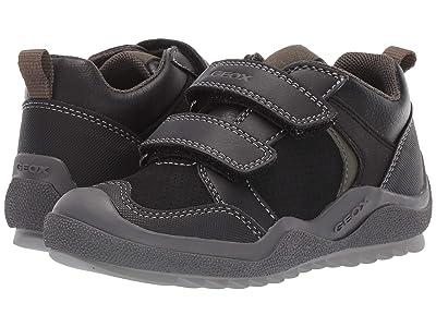 Geox Kids Jr Artach 2 (Little Kid) (Black/Green) Boys Shoes