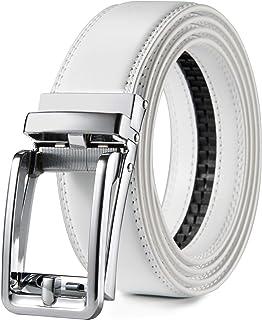 "Click Ratchet Belt Dress with Sliding Buckle 1 3/8"" - Adjustable Trim to Exact Fit"