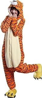 Unisex Adult Pajamas One Piece Sleepwear Halloween Christmas Party Cosplay Tiger Costume