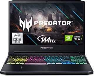 "Acer Predator Helios 300 Gaming Laptop, Intel i7-10750H, NVIDIA GeForce RTX 2060 6GB, 15.6"" Full HD 144Hz 3ms IPS Display,..."