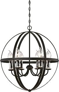 Westinghouse Lighting 6339000 Stella Mira Six-Light Outdoor Chandelier, Oil Rubbed Bronze. (Renewed)