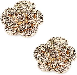 Fashion Rhinestones Pearls Flowers Crystals Wedding Party Shoe Clips