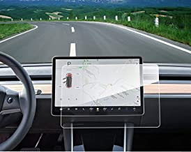 Model 3 Center Control Touch Screen Car Navigation Tempered Glass Screen Protector, 9H Anti-Scratch and Shock Resistant for Model 3 Screen Cover P50 P65 P80 P80D 15