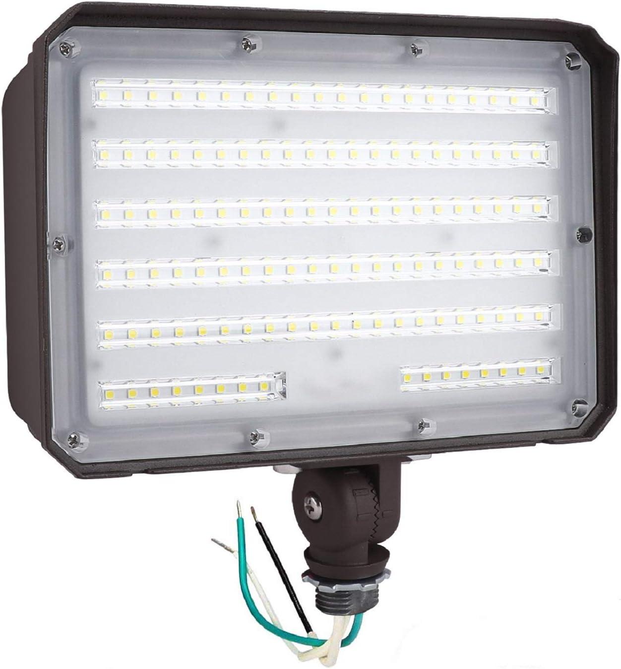 CINOTON 100W LED Flood Light Outdoor, IP65 Waterproof Rating Led Flood Light with Knuckle Mount 13000 Lumen (1000W Incandescent Equivalent) 5000K Daylight LED Flood Light for Yard Garden Garage