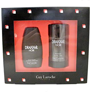 Guy Laroche Drakkar Noir 2 Pc. Gift Set (Eau De Toilette Spray 1.0 Oz/ 30 Ml + Deodorant Stick 2.6 Oz/ 75g) for Men By 0.75 Fluid_Ounces