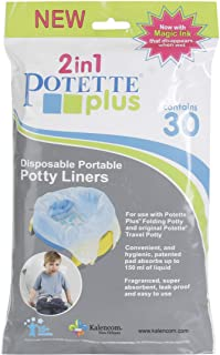 Kalencom Potette Plus Potty Seat Liners with Magic Disappearing Ink, 30 Count