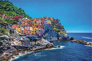 PROW Famous Scenic Area Italian Colorful Cinque Terre 1000 Pieces Wooden Jigswa Puzzle Home Decoration Photo Frame Kids Ch...