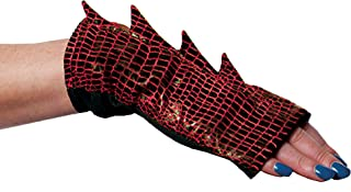 Adult Dragon Gloves Costume Accessory, Red
