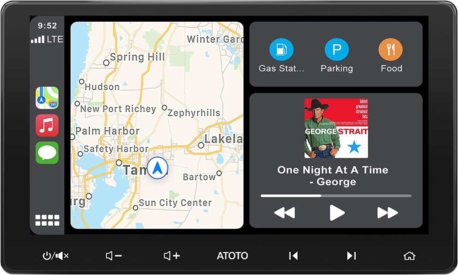 F7G211SE 10in IAH10D AutoLink Phone Mirroring ATOTO F7 SE Car in-Dash Navigation HD Rearview Input Up to 2TB USB//SD Bluetooth Handsfree//A2DP Android Auto /& CarPlay Connection Quick Charge