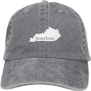 Kentucky Bourbon Vintage Washed Dyed Cotton Adjustable Denim Cowboy Cap