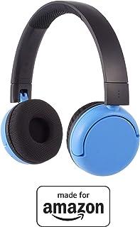 BuddyPhones PopTime - Nuove cuffie Bluetooth Made for Amazon, per bambini e ragazzi da 8 a 15 anni, blu