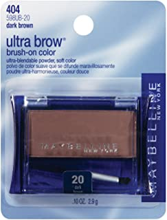 Maybelline New York Ultra-Brow Brow Powder,Shade #20 / #404 Dark Brown, 0.1 Ounce