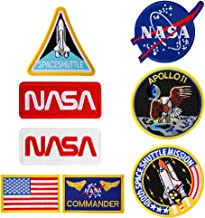 Parche t/áctico NASA 100th Space Shuttle Mission 5 piezas 5 piezas NASA Iron On Patch//Sew On Badge for Astronaut Space Fancy Dress Costume Jacket Parche termoadhesivo para la ropa