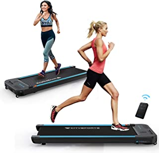CITYSPORTS Treadmills for Home, Under Desk Treadmill Walking Pad Treadmill with Audio Speakers, Slim & Portable Treadmill ...