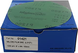 "DEERFOS 15 Hole 6""// 150mm Film Wet or Dry Sanding Discs Box 50 P1000 To P3000"