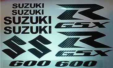 CARBON FIBER GSXR 600 10 PIECE DECAL SET - XXL Decal Sticker Fairing , tank ( non Heat resistant )
