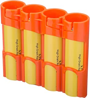 Storacell SL18650ORG by Powerpax SlimLine 18650 Battery Caddy, Orange, Holds 4 Batteries (Not Included)