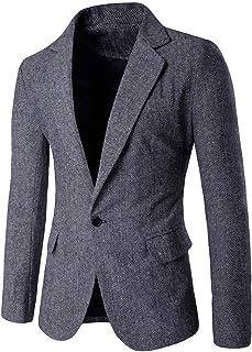 HOOUDO Men Blazer,Autumn Winter Sale Slim Fit Formal SmartClassic One Button Business Tuxedo Jackets Suit Jackets Coat O...