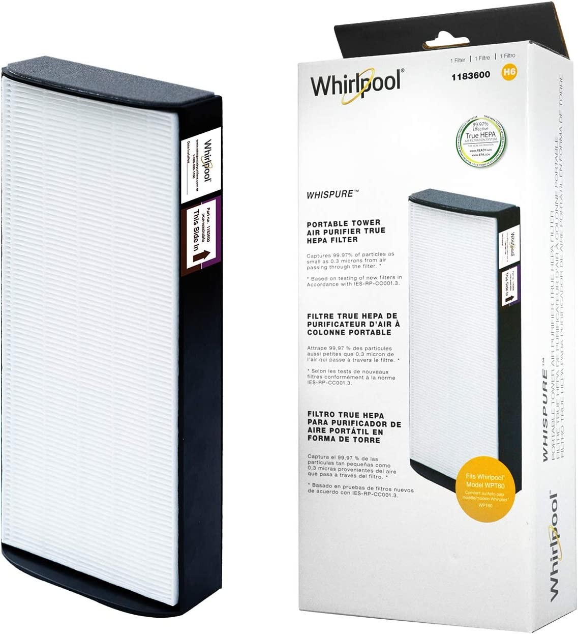 Detroit Mall Whirlpool 1183600 - shop Genuine True Replacement A HEPA Fit Filter