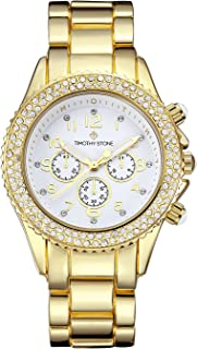 Timothy Stone Women's AMBER-STAINLESS Gold-Tone Watch