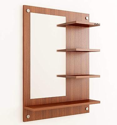 Anikaa Wood Wall Mirror (16 x 30 x 80 cm, Brown)