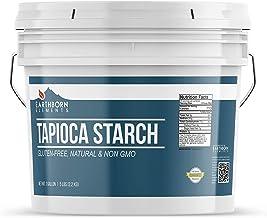 Tapioca Flour (1 Gallon (5 lb.)) by Earthborn Elements, Also Known As Tapioca Starch, Resealable Bucket, Fine White Powder, Gluten-Free, Non-GMO