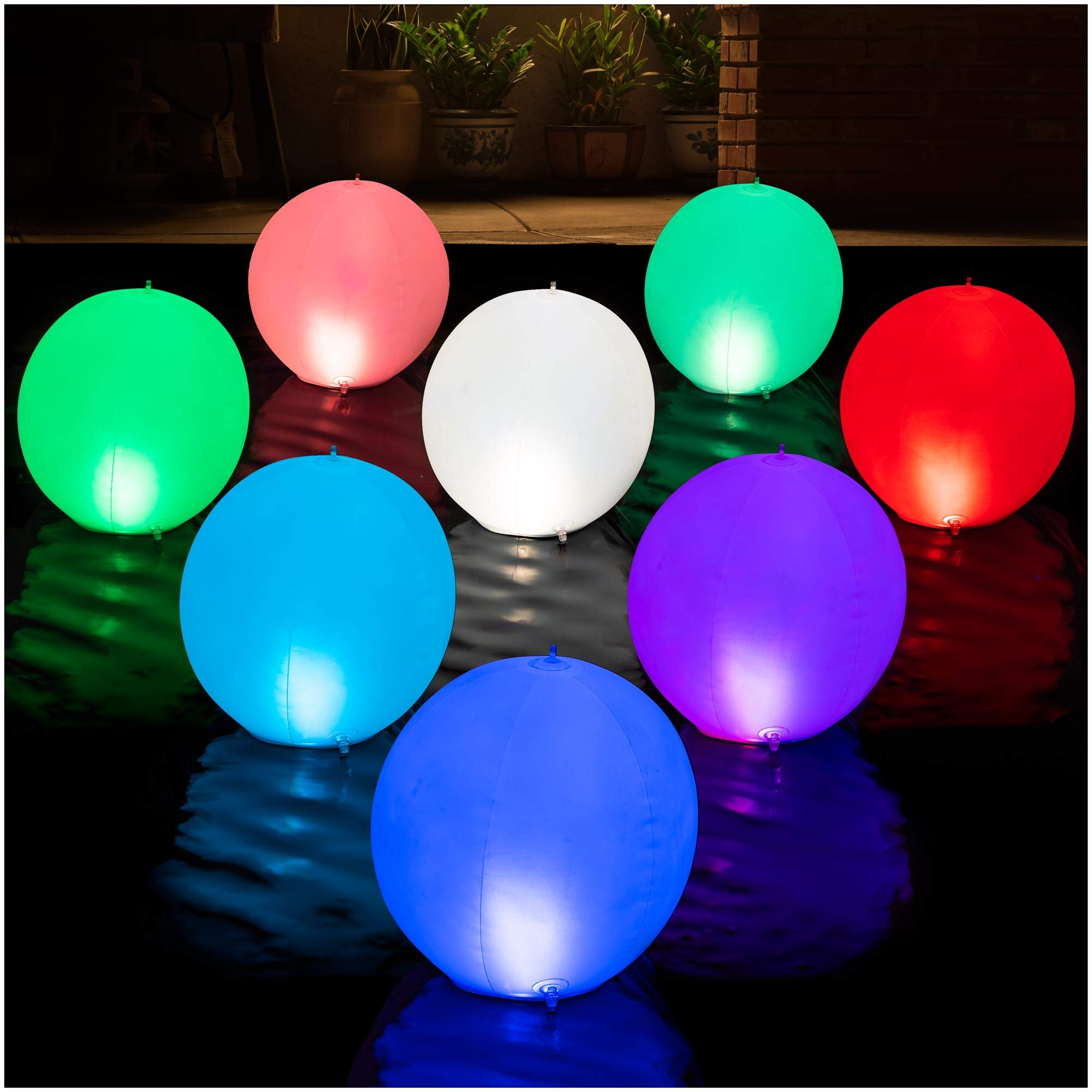 HAPIKAY Solar Floating Pool Lights
