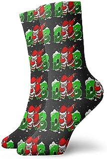 Dydan Tne, Niños Niñas Locos Divertido Dabbing Papá Noel Navidad Dab Dance Calcetines Rojos Verdes Negros Calcetines Lindos de Novedad