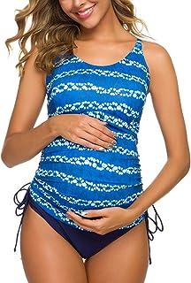 Tempotrek Two Piece Maternity Swimsuits Stripe Halter...
