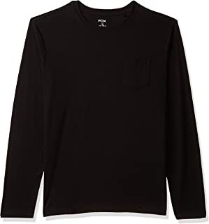 Fox Boy's Plain Regular fit Long Sleeve Top (637137_Black 6)