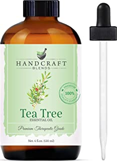 Handcraft Tea Tree Essential Oil - Premium Therapeutic Grade with Premium Glass Dropper - Huge 4 fl. Oz